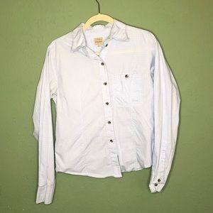 Filson Light Blue Button Down Shirt Large